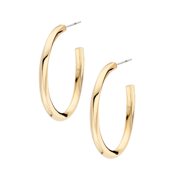 Imara Oval Hoop Earrings