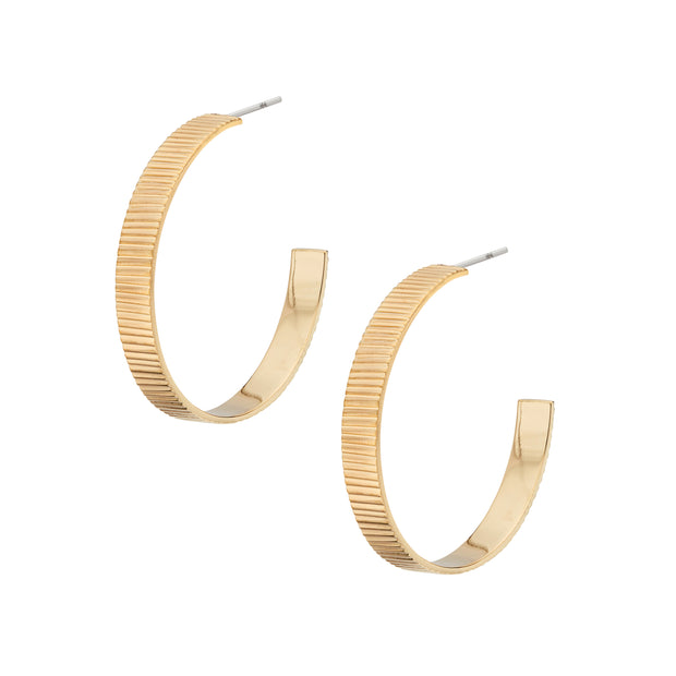 Meta Hoop Earrings