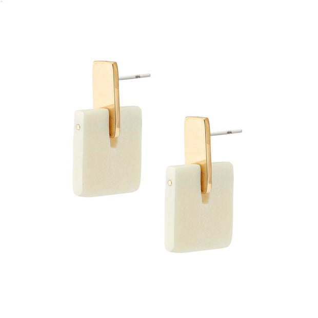 Jenga Stud Earrings