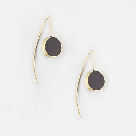 Horn Dot Threader Earrings