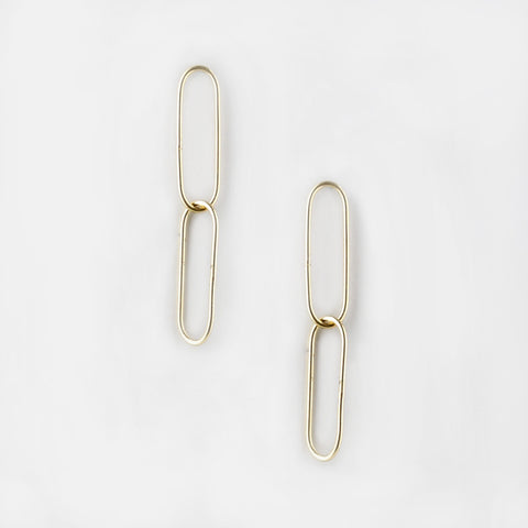 Oval Horn Drop Earrings