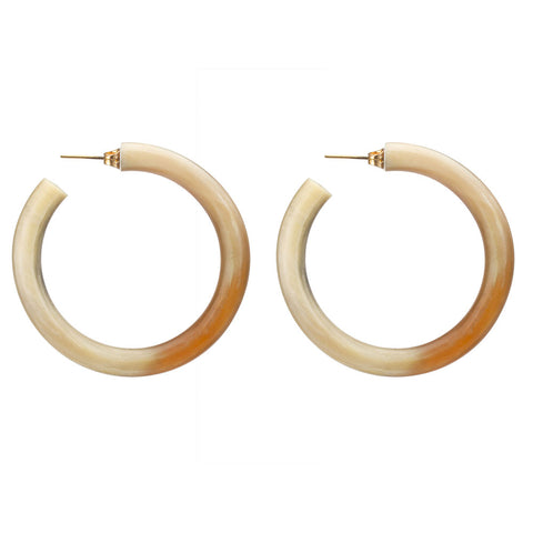Large Horn Hoop Earrings