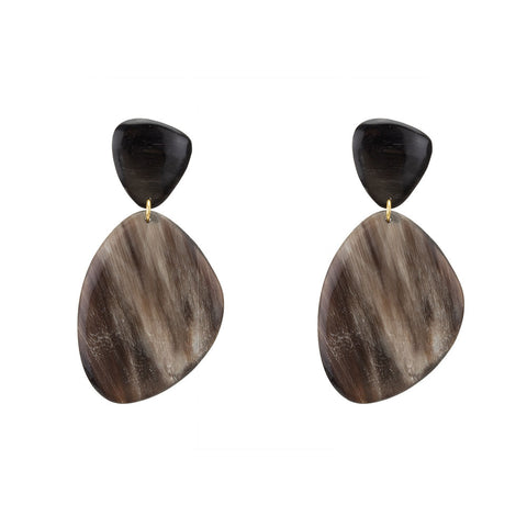 Sabi Horn Drop Earrings