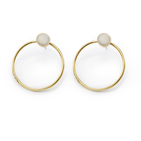 Mari Dot Hoop Stud Earrings