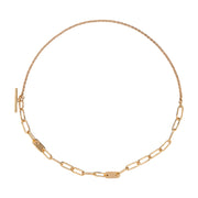 Delicate Ellipse Collar Necklace