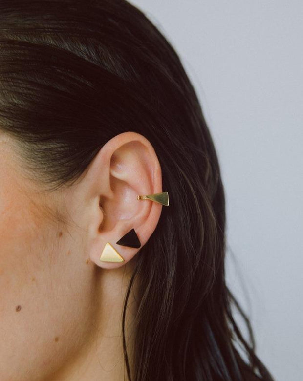 Asili Stud Earrings + Ear Cuff