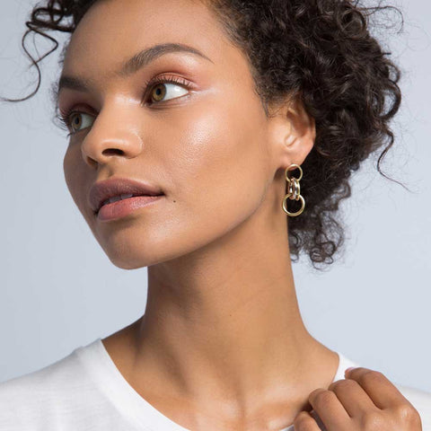 Fania Triple Hoop Earrings