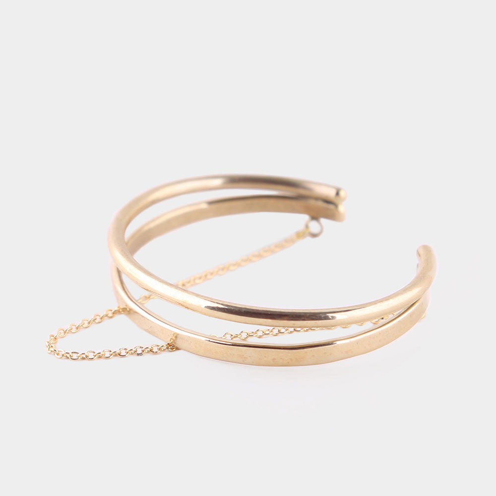Soko Twisted Dash Cuff Bracelet Gold 1 Size