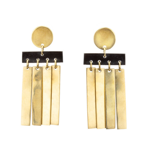 Cala Horn Fringe Stud Earrings
