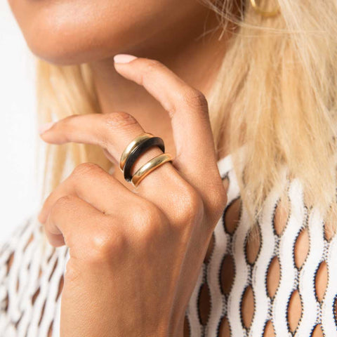 Mixed Material Rounded Stacked Rings