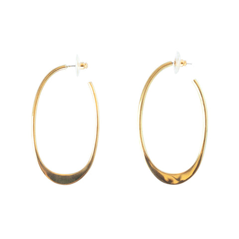 Oval Tapered Hoops