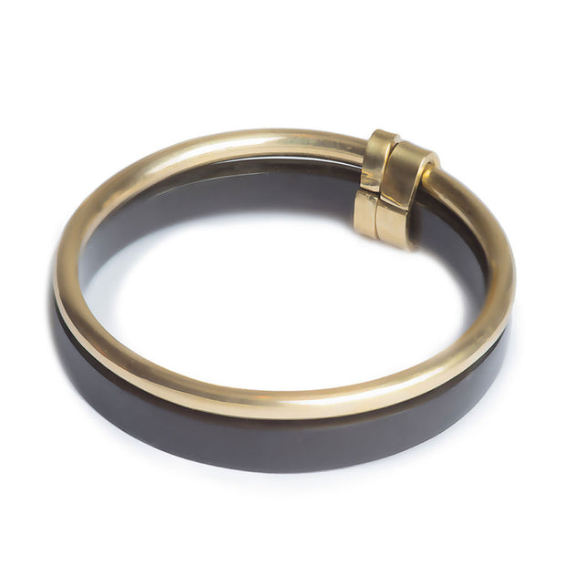 Banded Contrast Bangle Bracelet