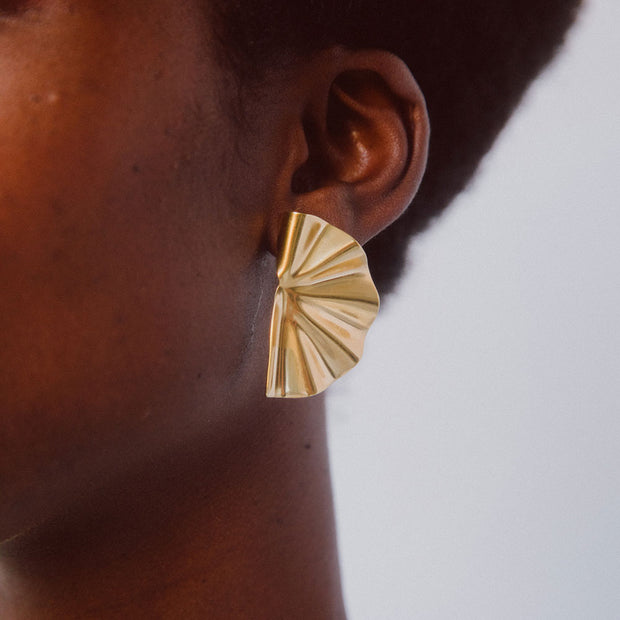 Bidu Fanned Stud Earrings