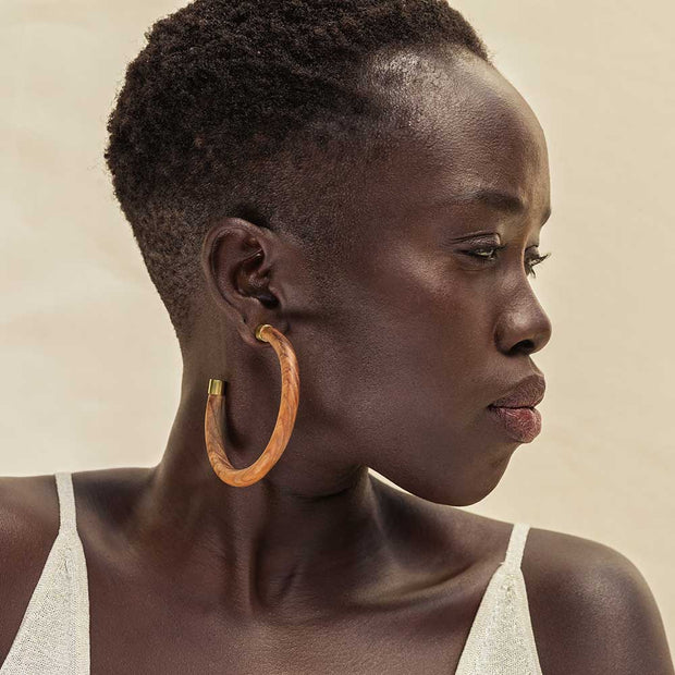SOKO x Reformation Capped Arlie Maxi Hoop Earrings