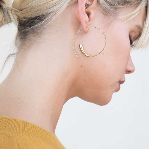 Dash Hoop Earrings