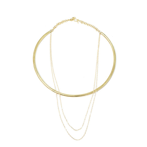Petite Triangle Orb Necklace