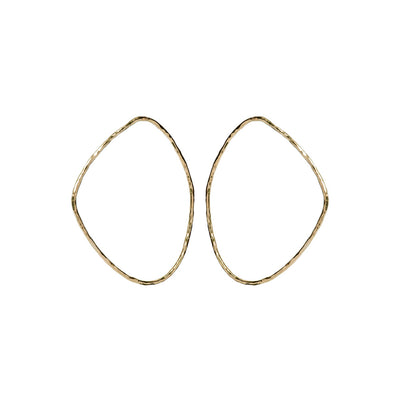 SOKO x Reformation Hammered Maxi Sabi Outline Earrings