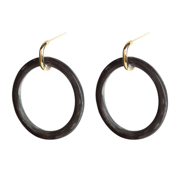 Horn Statement Hoop Earrings