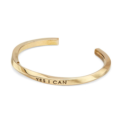 Imara Twist 'Yes I Can' Cuff Bracelet