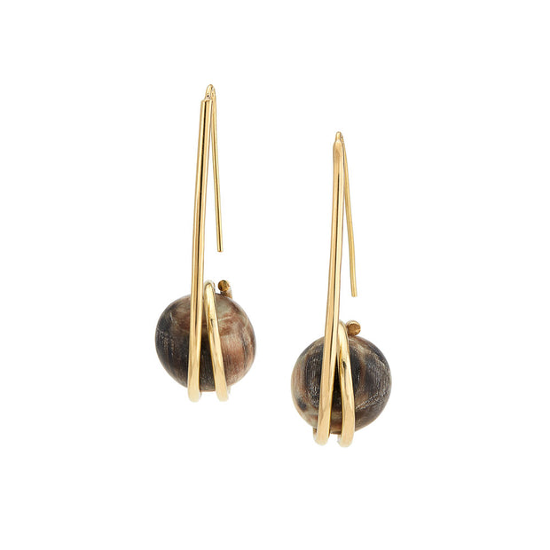 Konza Horn Threader Earrings