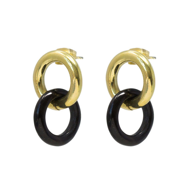 Kumi Mixed Material Stud Earrings