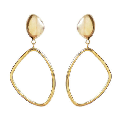 Sabi Large Drop Hoop Earrings