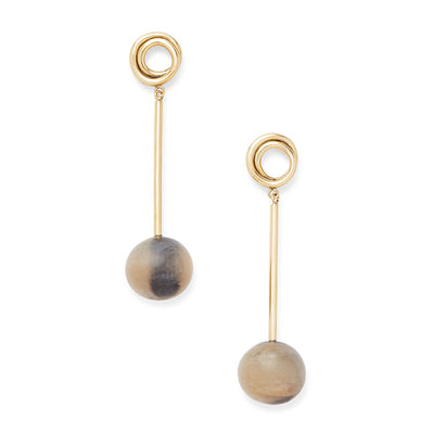 Linea Horn Drop Earrings