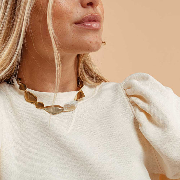 Makena Horn Collar Necklace