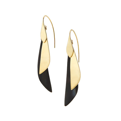 Makena Mixed Material Threader Earrings