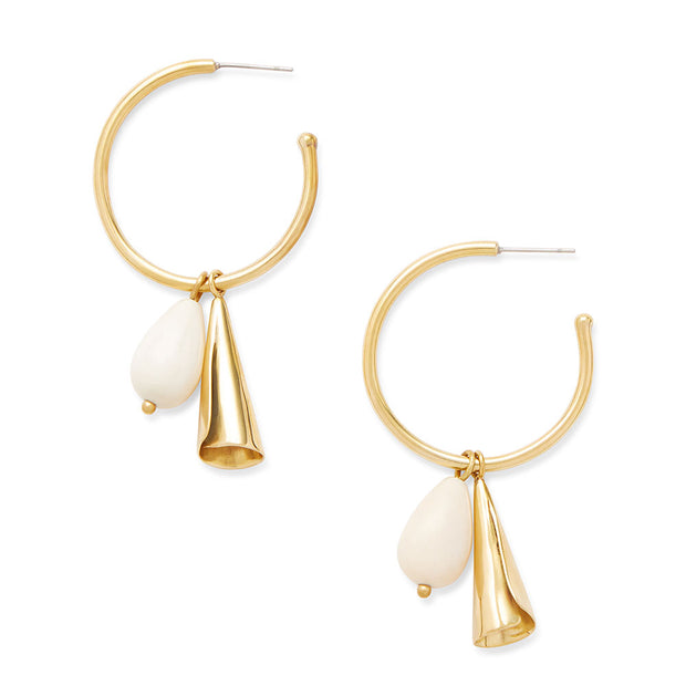 Malindi Charm Hoop Earrings