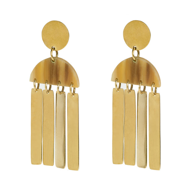 Maxi Horn Cala Earrings