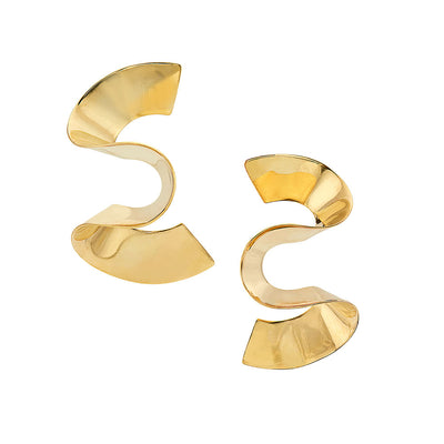 Maxi Twisted Sia Stud Earrings