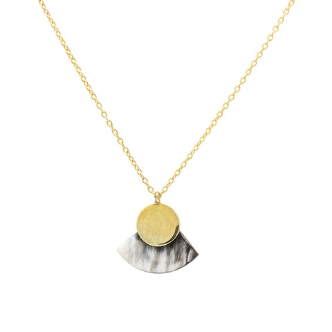 Mini Horn Paddle Necklace