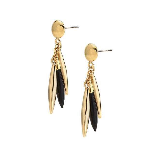 Mini Quill Dangle Earrings
