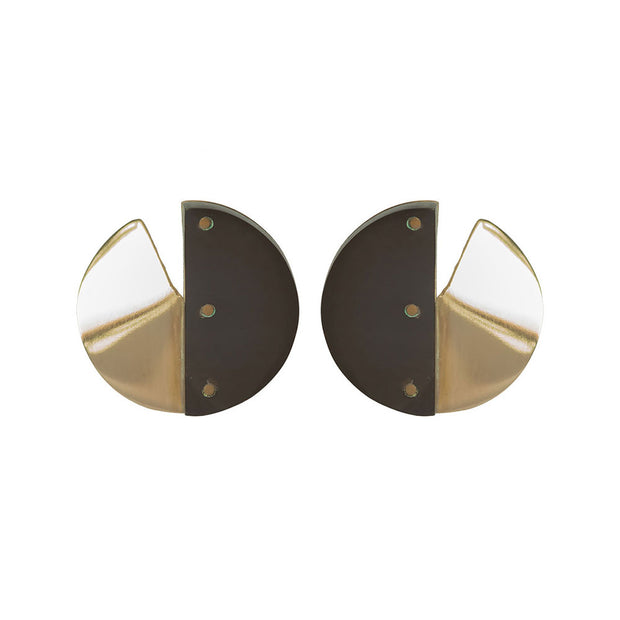 Mixed Material Sia Stud Earrings