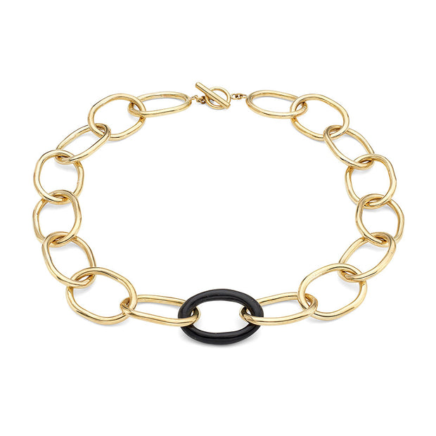 Nene Horn Link Collar Necklace