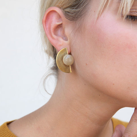 Nusu Horn Stud Earrings