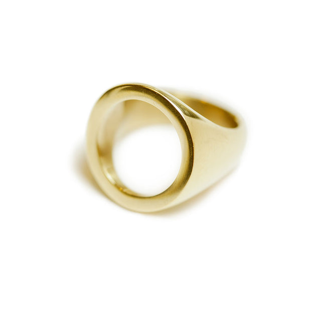 Open Circle Statement Ring