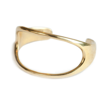 Open Oval Statement Cuff Bracelet