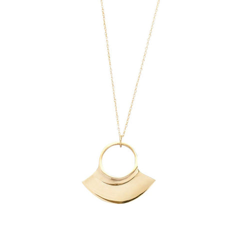 Petite Paddle Pendant Necklace