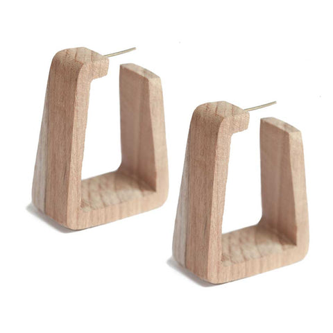 Raba Wood Hoop Earrings