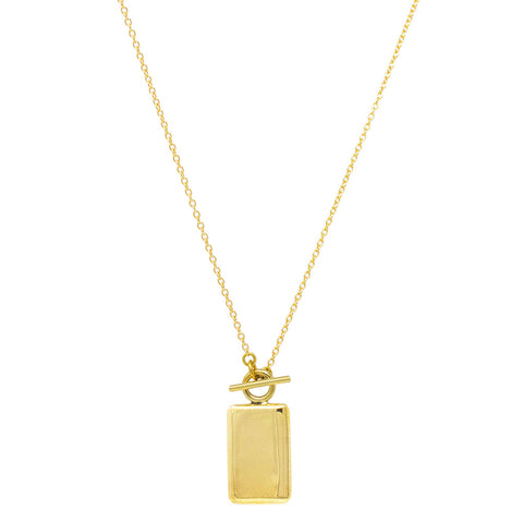 Rectangle Medallion Necklace