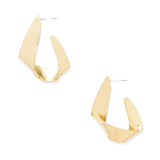 Ribbon Statement Hoop Earrings