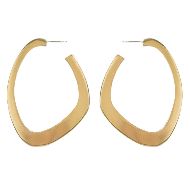 Sabi Flat Hoop Earrings