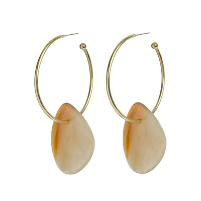 SOKO x Reformation Sabi Horn Statement Hoop Earrings