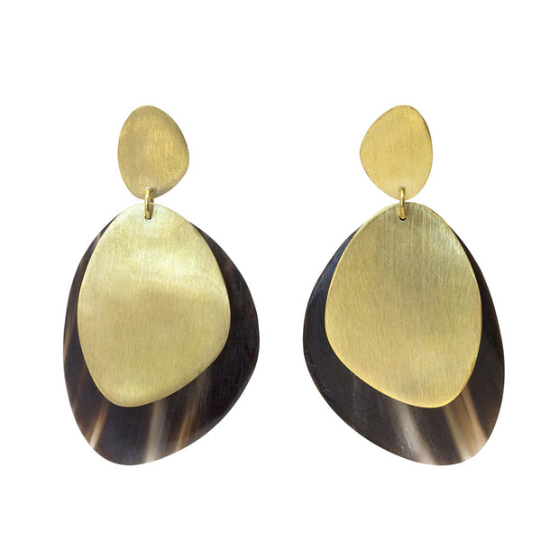 Sabi Mixed Material Statement Earrings