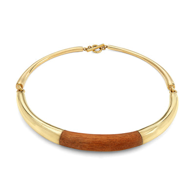 Sana Wood Collar Necklace