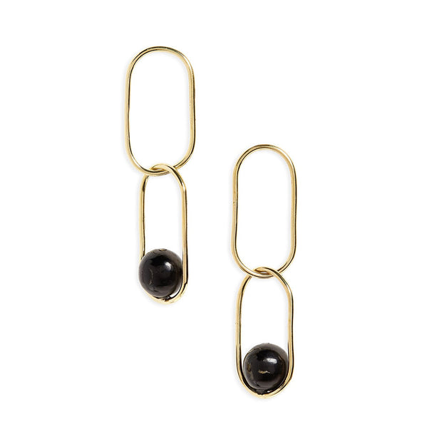 Large Linked Sawa Drop Earrings