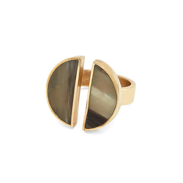 Split Moon Ring