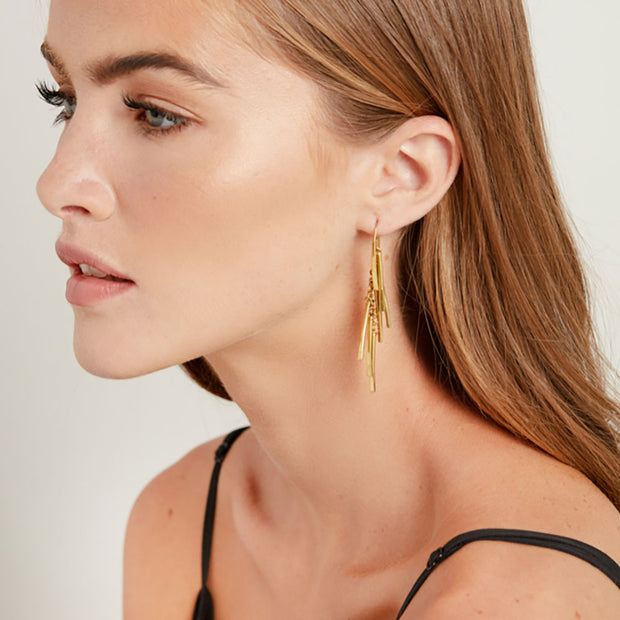 Tamasha Fringe Threader Earrings